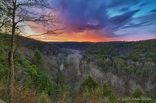 Sunset at Clear Fork Gorge by andiwolfe