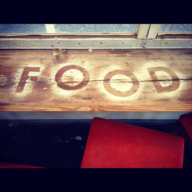 Food shark dining bus, marfa, TX