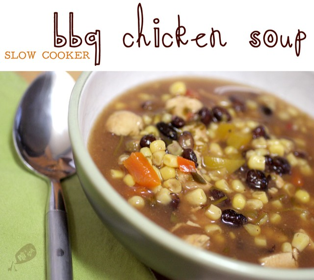 Slow Cooker BBQ Chicken Soup