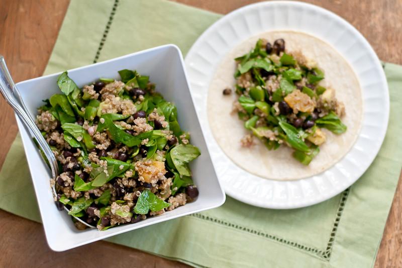 Quinoa Salad Soft Tacos (Vegan and Gluten-Free) | Cafe Johnsonia
