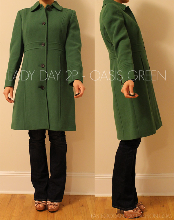J Crew LADY DAY OASIS GREEN 2P