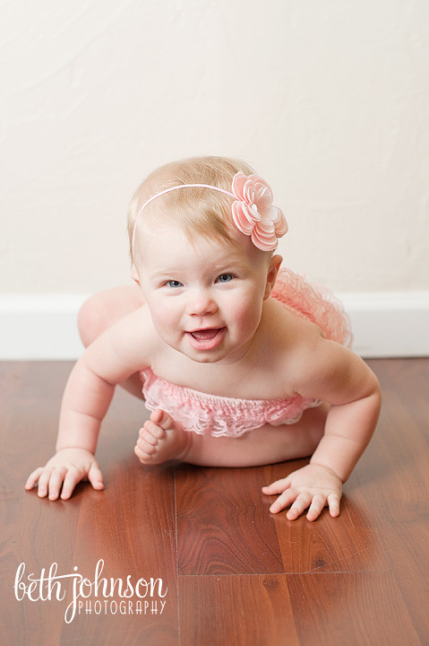 baby girl in pink romper tallahassee