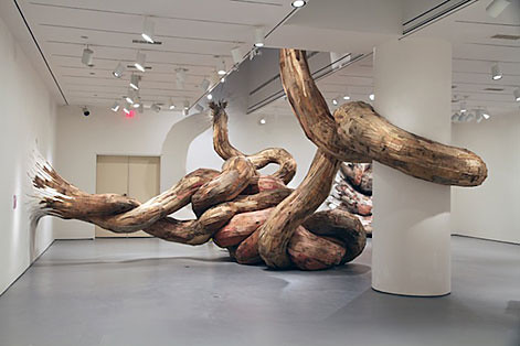 HENRIQUE OLIVEIRA - WOOD SCULPTURES