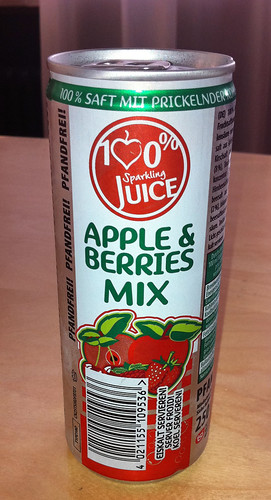 100% Sparkling Juice - Apple und Berries Mix 1 by softdrinkblog