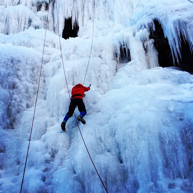 Ryan ice climbing instagram