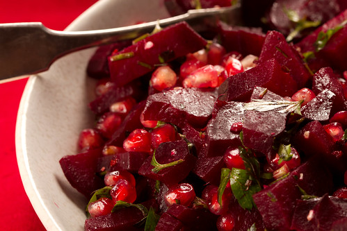 Pomegranate and beetroot salad / Peedi-granaatõunasalat