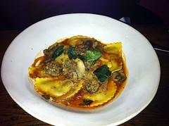 Mushroom ravioli at Jamie's Italian, Glasgow