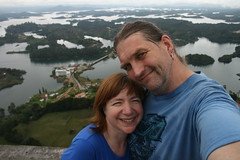 """A Couple at the Top of """"The Rock"""""""