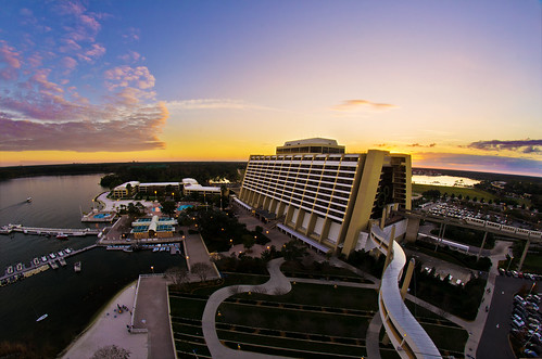Contemporary Resort From Our Bay Lake Tower Balcony