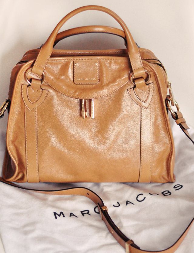 marc jacobs bag - classic handbag -camel