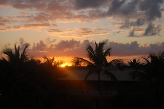 Sunset from balcony Majestic Colonial Punta Cana