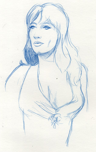 Dr. Sketchy Dallas- Angela Ryan 10 minute sketch