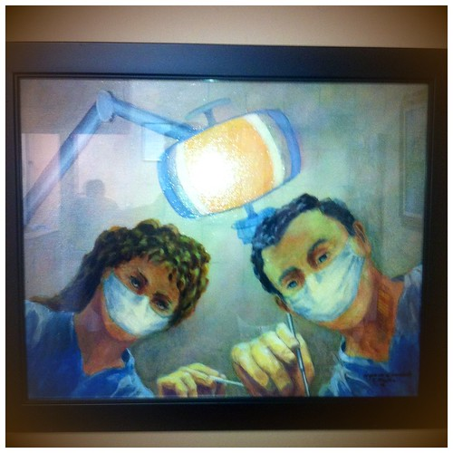 creative painting of dentists at work