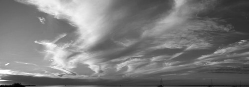 sunset sky blackandwhite panorama 20d water clouds canon landscape canoneos20d greyscale