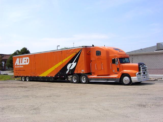 Allied Van Lines Freightliner truck ...
