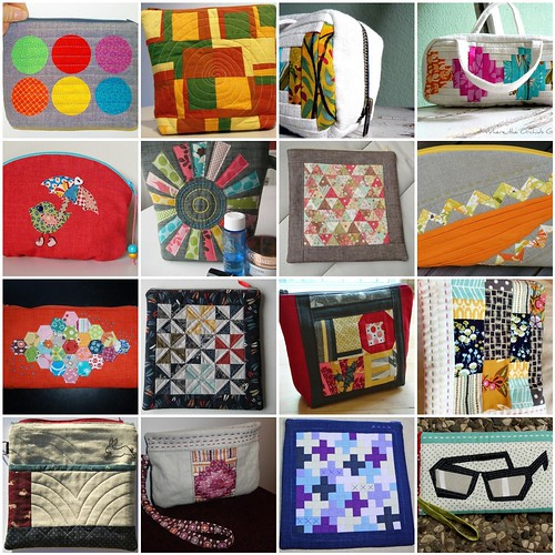 Mosaic Mouthy Stitches Zipper Pouch Swap
