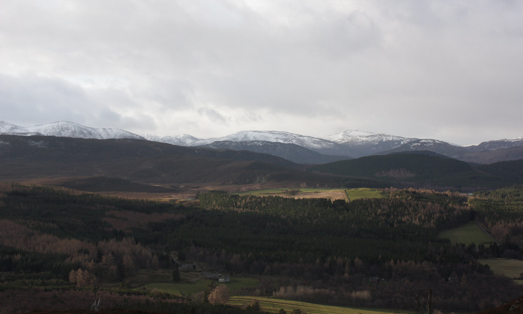 Towards the hills south of Braemar