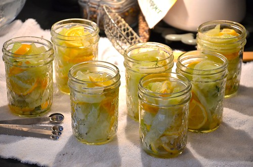 meyer lemon and fennel pickles