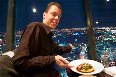 Dinner at the Sky Tower, Orbit Restaurant