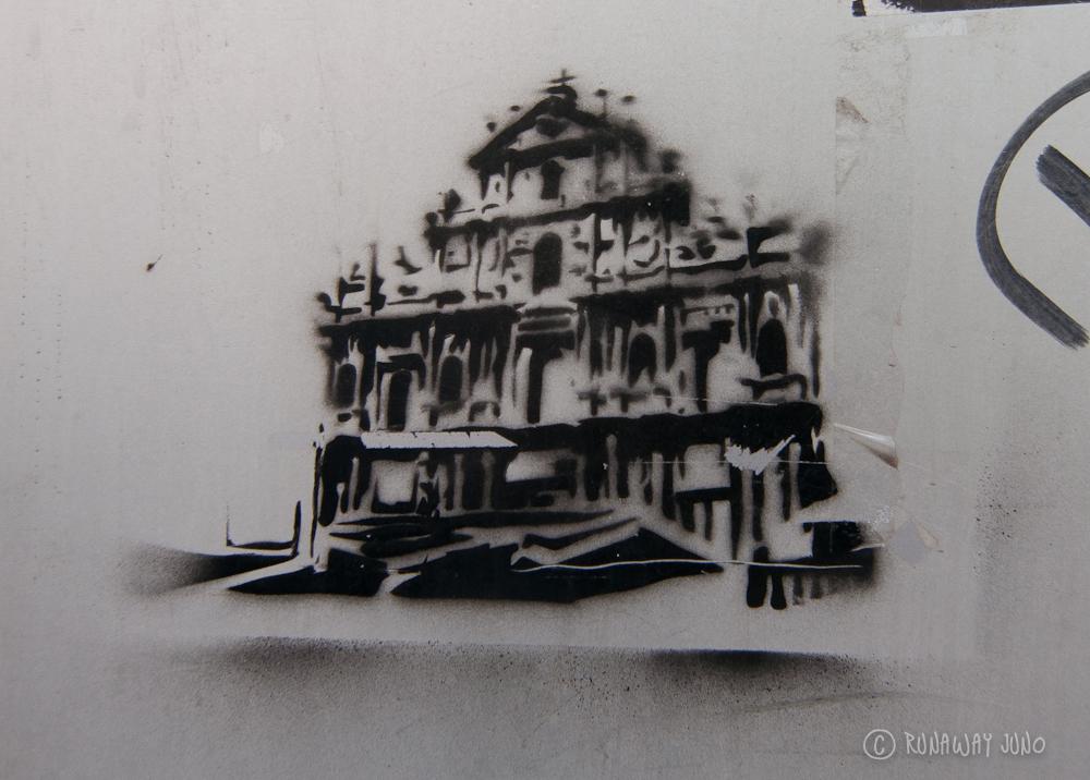 Street art of Macau - St.Paul's