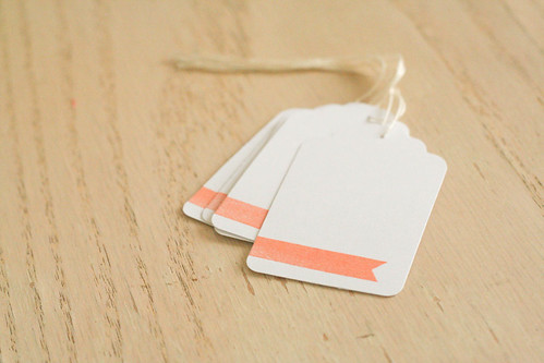 embossed gift tags.