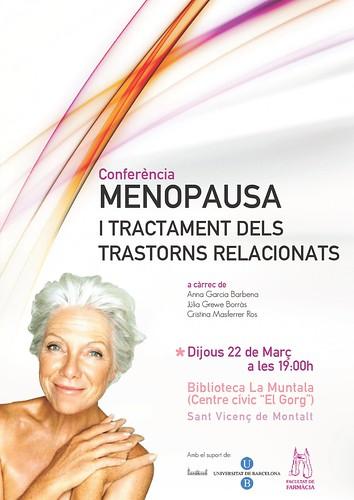 Conferència: menopausa i tractament dels trastorns relacionats @ 22 març a les 19 h. by bibliotecalamuntala