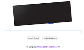 Google's homepage on 1/18/12
