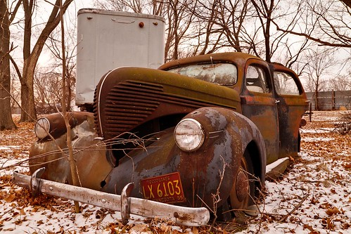 old trees winter snow cold history abandoned broken car metal rural landscape rust automobile flickr country rusty headlights hood weathered rusting decaying dilapidated bumber facebook