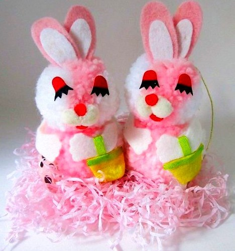 Vintage Easter Bunnies by socal72girl