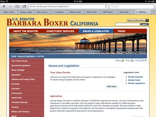 Señora Barbara Boxer should drink her own SOPA