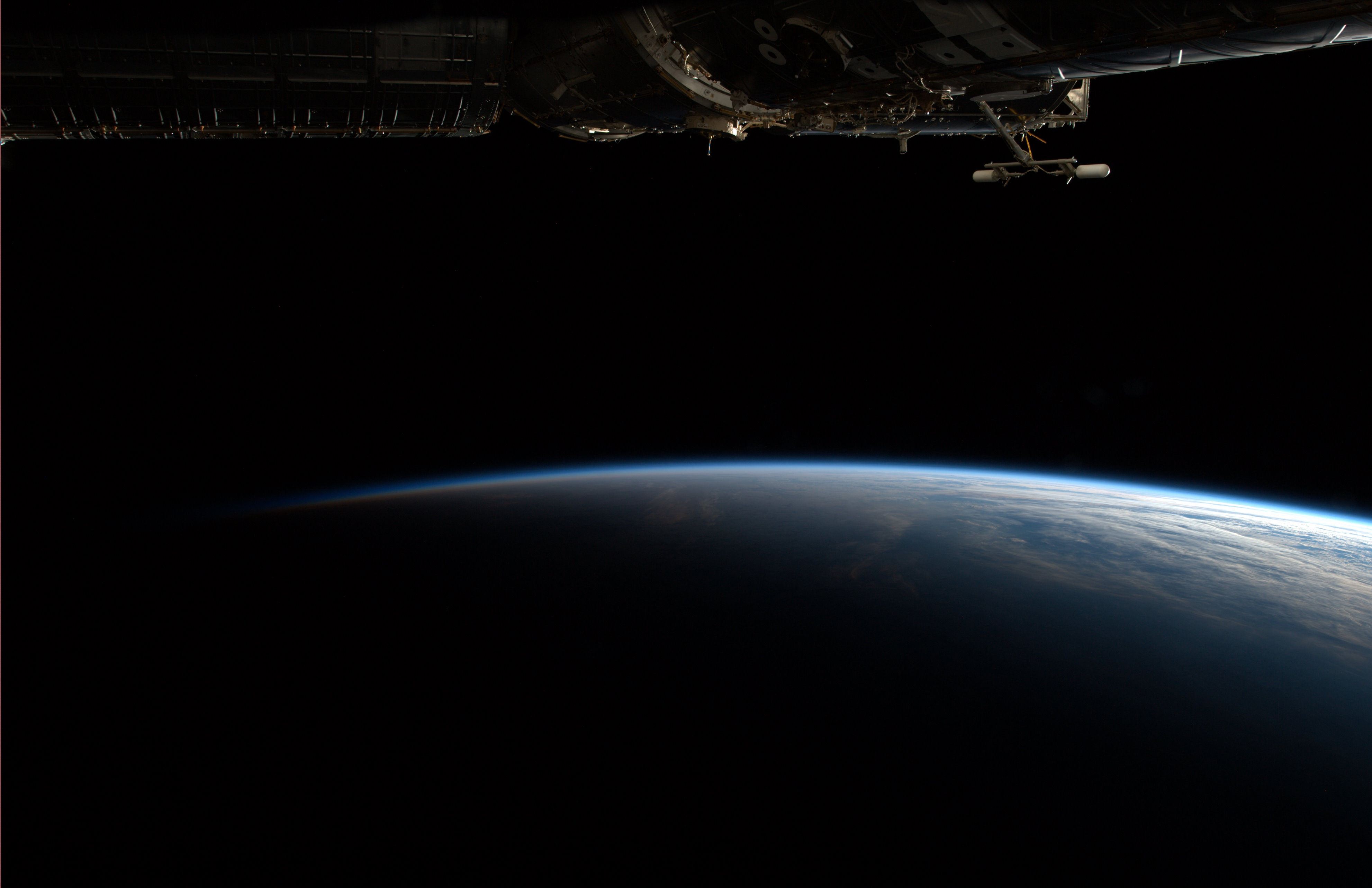 earth horizon nasa night - photo #19