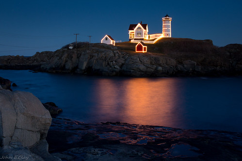 Nubble Lighthouse - Christmas