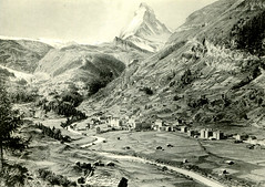 Zermatt around 1900 (Postcard)