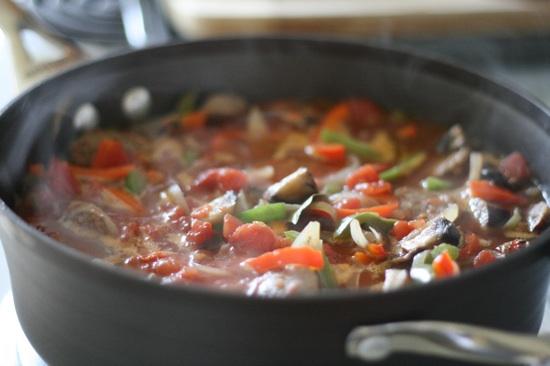 how to cook cacciatore sausage
