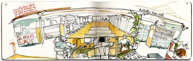 34th Sketchcrawl in Sants (Barcelona)