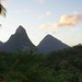 View of Pitons from room, Anse Chastanet