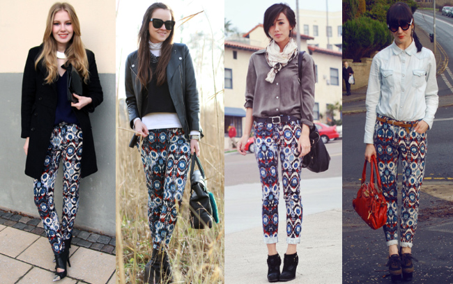 Zara printed pants-1
