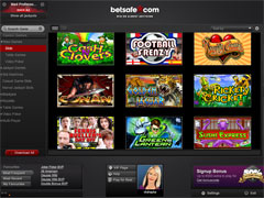 Betsafe Casino Black Lobby