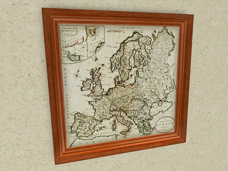 Map (with extra features): Guthrie - An Accurate Map of Europe (1785), 200 lindens by Cherokeeh Asteria