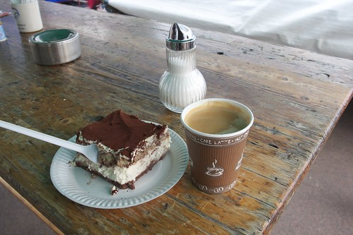 Tiramisu at Winterfeldtplatz, along with a cup of coffee