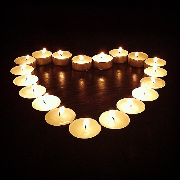 Heart. Candlelight.
