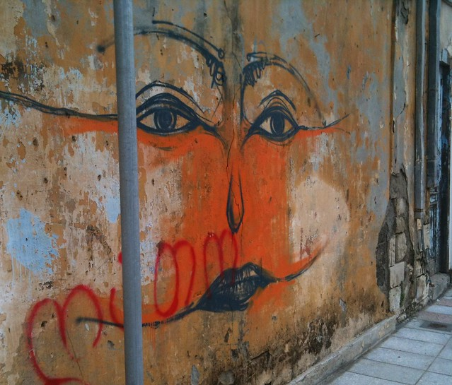Street art in Limassol old town.
