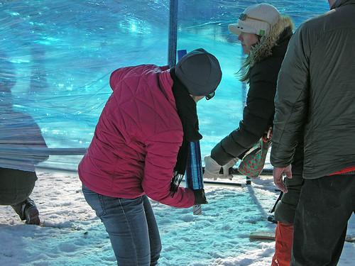 filling the aquarium