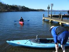 Launching on Lake Robinson