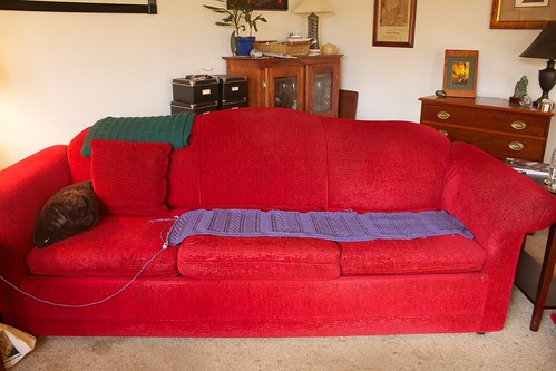 Guernsey Wrap on couch-o-meter