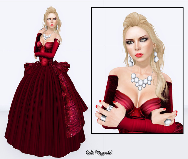 LVC Valentine dress - izzie's necklace and rings