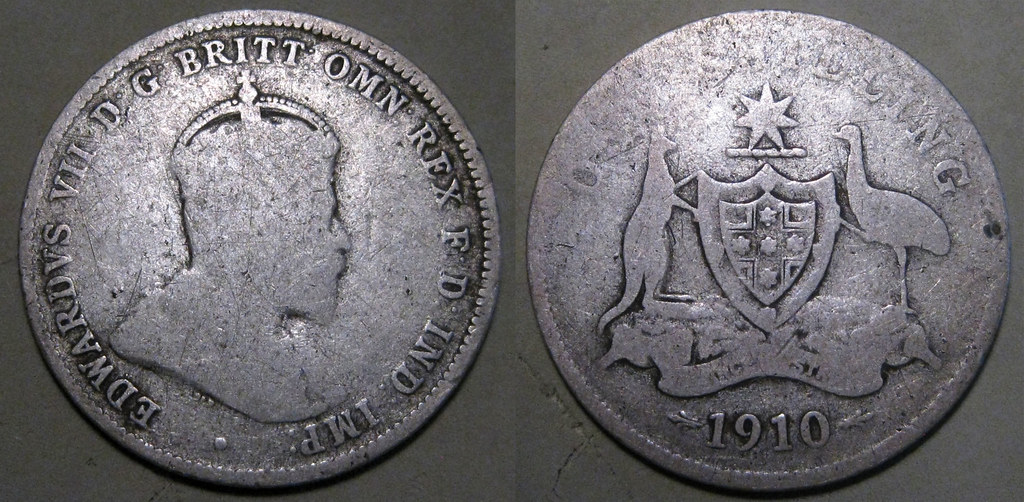 Australia 1910 Shilling--below melt!