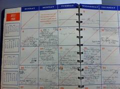 Dr Wernher von Braun's 1969 appointment calendar