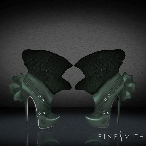 FINESMITH CANDYBIRD BOOTS green