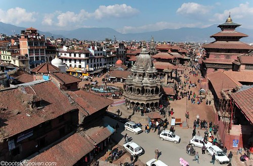 View of Patan Durbar Square from our lunch spot